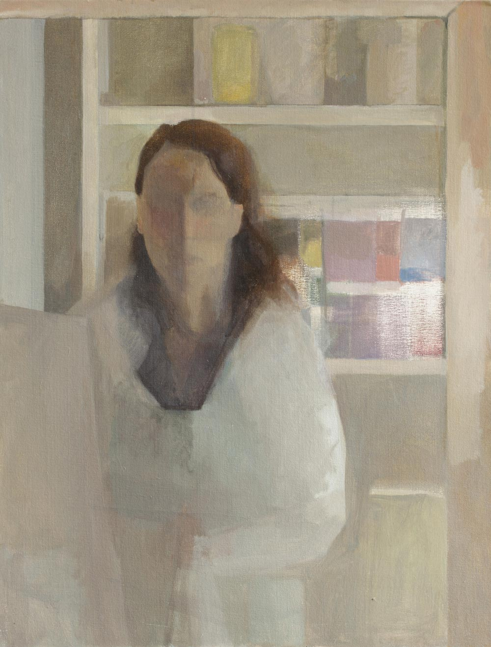 """Autoportrait aux pigments<span class=""""line2"""">Huile sur carton entoilé<br />65 x 50 cm</span>"""